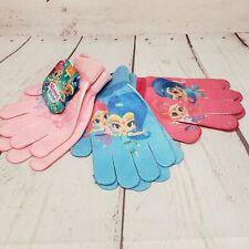 Nickelodeon Shimmer and Shine Kids Set of 3 Pairs Mittens Gloves
