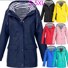 Plus Size Womens Waterproof Raincoat Wind Outdoor Jacket Forest Coat Rain Macs