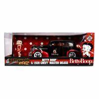 Betty Boop Hollywood Rides Diecast Model 1/24 1939 Chevy Master Deluxe with Figu