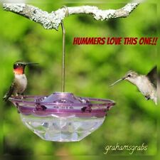 HummBlossom Cutest Hummingbird Feeder Plum 4 Oz. Hummers Love It! Made In Usa