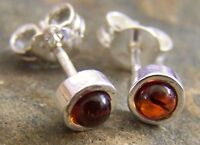 SilverAmber Jewelery K005 Designer Earrings Studs with Baltic Amber Gemstone