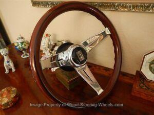 """Rolls Royce  Silver Shadow 1 Wood Steering Wheel NARDI Deep Dish 13.75"""" NEW"""