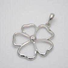polished flower pendant necklace slide Lia sophia jewelry silver tone plated