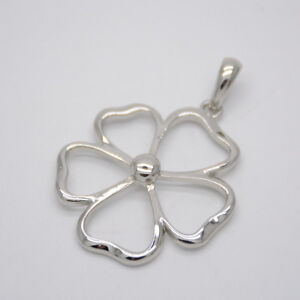 Lia sophia jewelry silver tone plated polished flower pendant necklace slide