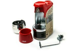 Quikpot Portable Propane Coffee Maker to 10 Cups of fresh-brewed coffee - RED