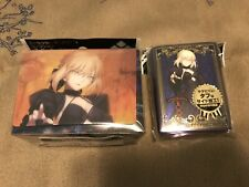 Fate Grand Order Stay Night Saber Alter Artoria Deck Box w Pack Of Sleeves 80ct