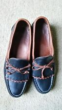 Allen Edmonds Leather Tassel Loafer Shoes Black Brown Men Sz 9 D