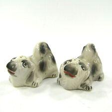 Vintage Salt Pepper Shakers Set Pekingese Dog Puppy Pekinese Japan