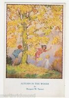 Margaret Tarrant, Autumn In The Woods, Children Medici Postcard, B540