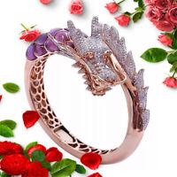 BohoName Band Ringe Hochzeit Zircon Ringe des Drachen Gotisch Rhinstone