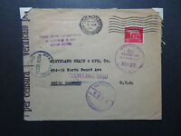 Italy 1945 Censored Cover to USA / Genova Censor - Z10811