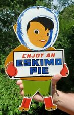 VINTAGE PORCELAIN ESKIMO PIE ADVERTISING  SIGN