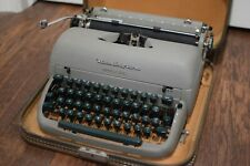 Vintage Green Letter Remington Quiet-Riter Portable Manual Typewriter with case