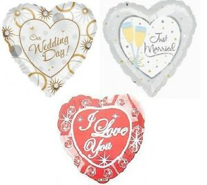 WEDDING DECORATION FOIL 18 INCH BALLOON FOR HELIUM PICK YOUR DESIGN