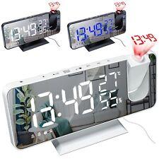 Led Digital Alarm Clock Watch Table Electronic Desktop Clocks Wake Up Fm Radio