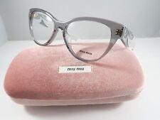 Miu Miu VMU 03N ROY-1O1 Transparent Gray New Authentic Eyeglasses 51 w/Case