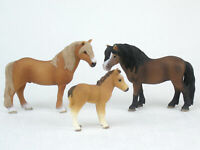SCHLEICH Horse Models DARTMOOR PONY FAMILY Mare Stallion Foal RETIRED