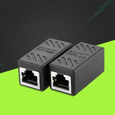 2 Pcs RJ45 Ethernet Network LAN Cat5e/Cat6 Cable Joiner Adapter Coupler Extender