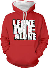 Leave Me Alone Anti-social Anxiety Introvert Independent 2-tone Hoodie Pullover
