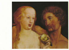Vintage POSTCARD Adam And Eve 1517 Paint By Hans Holbein-Kunstsammlung Basel Art