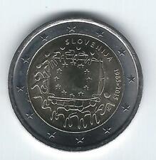 Pièce 2 euros commémo Slovénie 2015 (30 ans Drapeau Européen)