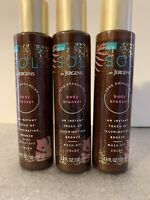 Lot of 3 SOL by Jergens Tone Enhancing Body Bronzer (3.4 oz each)