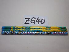 LOT OF 8 WOOD WOODEN PENCIL VINTAGE 1989 FOLLOW YELLOW BRICK ROAD WIZARD OF OZ
