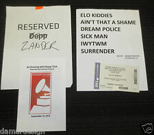 Very Rare Cheap Trick Setlist 9/12/2013 Grammy Museum Program Ticket Johnny Depp