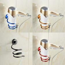 Wall Mount Hair Blow Dryer Holder Bathroom Storage Spiral Blower Stand Organizer