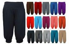 3/4 Harem Baggy Shorts Plain Cropped Ali Baba Trousers Pants Hareem Legging 8-26