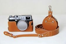 Genuine real half leather Case bag for FUJIFILM X100T X100M X100S X100 Brown New