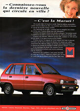 Publicité Advertising 1989  MARUTI 800
