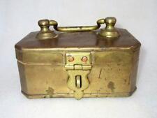 Old Antique Brass Hand Carved Rare Mughal Islamic Heavy Betel Nut Pan Dan Box