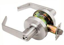 Grade 2 Commercial Duty Office Entry Keyed Lever Lockset, ADA, Satin Chrome