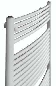 Cordivari White Hydronic Towel Warmer Curved Italy Design 20''x48'' wall mounted
