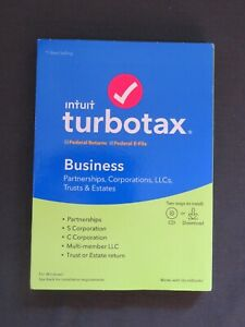 GENUINE 2019 Intuit TurboTax Business For Windows Federal Disc or Download