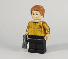 Custom - Captain Kirk - minifigures on lego bricks star trek space classic