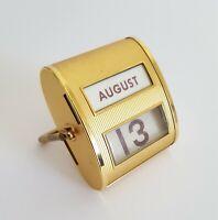 Seltener Art Deco Tischkalender / Ewiger Kalender Messing