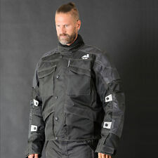 Motorbike Motorcycle Cordura Textile Jacket CE Approved Armours Black Alive 3xl