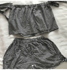 ASOS Gingham Check Co Ord Size 8 Summer Set
