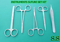 5 INSTRUMENTS SUTURE SET SURGICAL VETERINARY FORCEPS