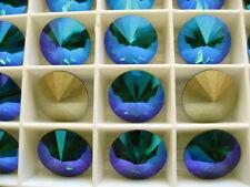 6 Emerald Glacier Blue Swarovski Crystal Rivoli Stone 1122 12mm