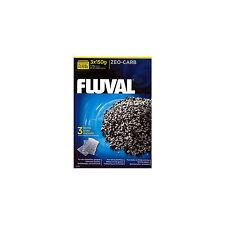 Aquarium Fish Tank Filter Media Fluval Zeo-Carb 3 x 150 grm Pouches