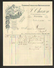 "NANTES (44) FOURRURE CONFECTION NATURALISATION ""AU TIGRE ROYAL / J. CHARON"" 1910"