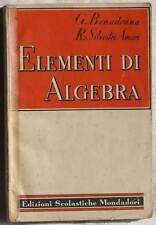 BONADONNA SILVESTRI ELEMENTI ALGEBRA MATEMATICA 1952