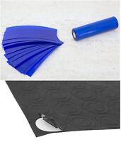 """20 pcs """"Neon Blue"""" 18650 PVC Lithium Battery Heat Shrink Wraps + 10 Insulators"""