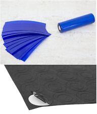 """10 pcs Cut """"Neon Blue"""" 18650 PVC Lithium Battery Heat Shrink Wraps +5 Insulators"""