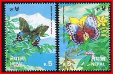 NEPAL 1996 protected BUTTERFLIES MNH INSECTS FLOWERS (NO, YOU DON'T HAVE IT!)