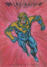 DC Comics Justice League Sketch Card by Mauricio Diaz of Booster Gold