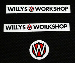 Willy's Workshop Skateboarding Logo Sticker Set